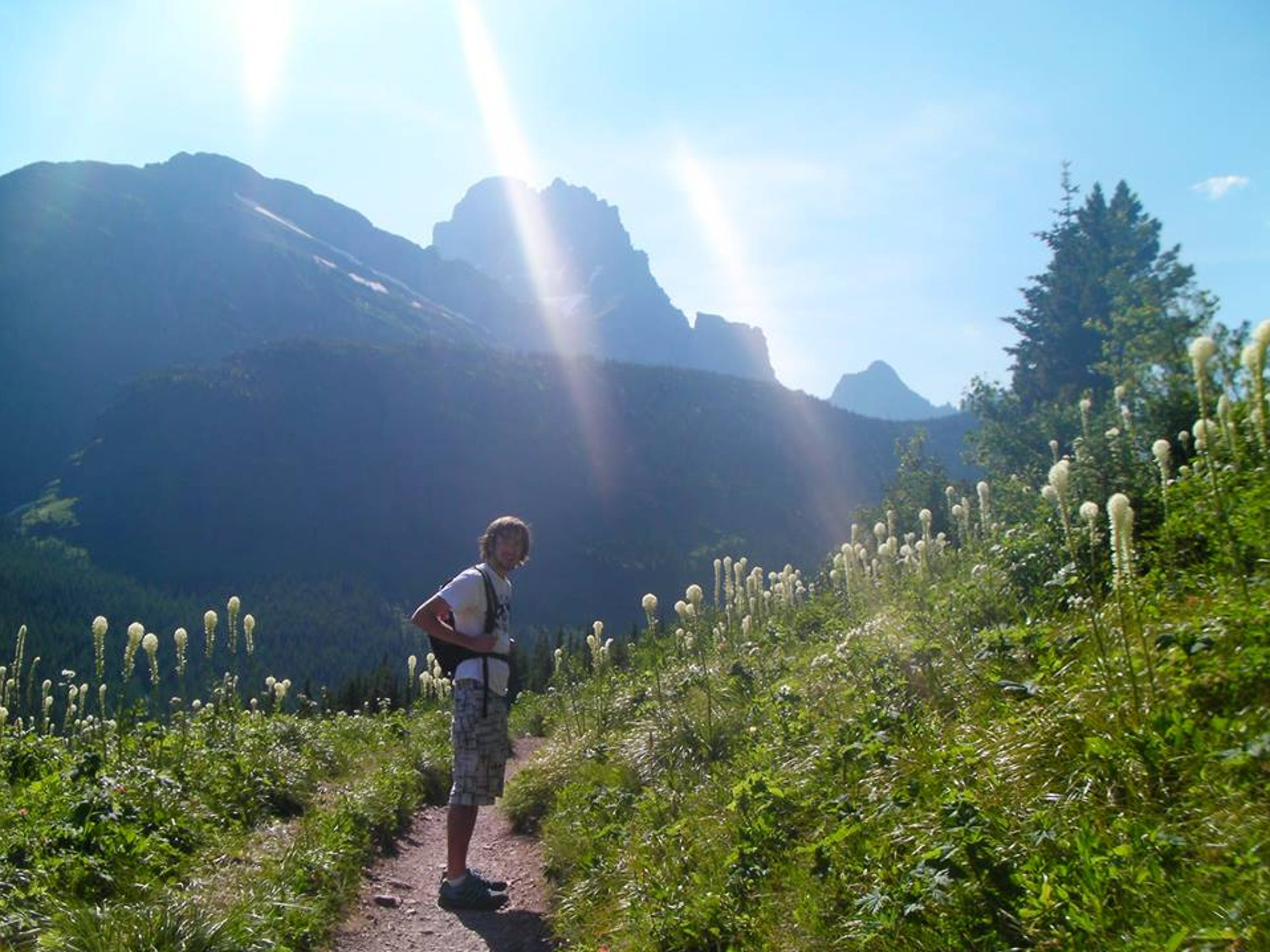 Pam Hillery's last hike, with her son, Dolan, on the Iceberg Lake trail in Glacier National Park in July 2012.