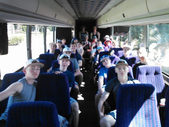 A view from the bus that broke down three times on a road trip for members of the Mason High School baseball team.
