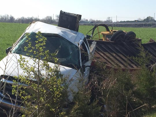 A vehicle crash along Route 15 in Straban Township