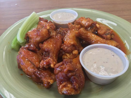 A plate of Sweet and Sassy wings from Sub Runners.