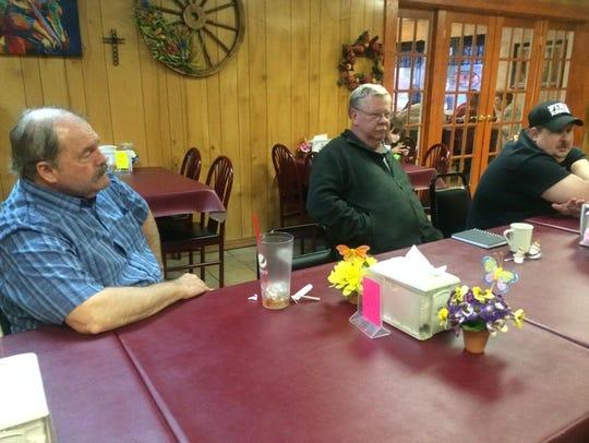 Members of the Wells Creek Basin Ham Radio Club meet