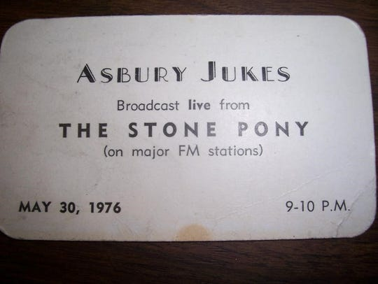 A guest pass for Southside Johnny and the Jukes album
