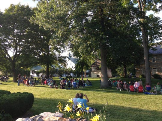 A scene from one of last year's concerts, on the lawn