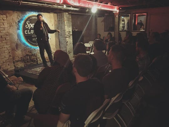 Ty Jamison performs at Spaceboy Clothing in downtown Wilmington. The retail shop now hosts a monthly stand-up comedy show.