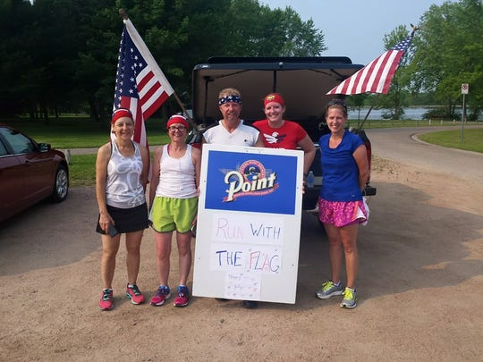 The second annual Stevens Point Running of the Flag