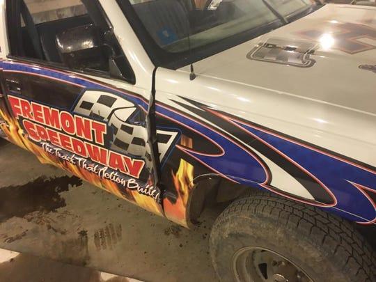 During a vandalism attack at Fremont Speedway, several