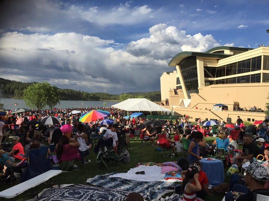 """Inn of the Mountain Gods Resort and Casino COO Frizzell Frizzell Jr. said the Inn's annual fireworks show was """"definitely the biggest show in New Mexico."""""""