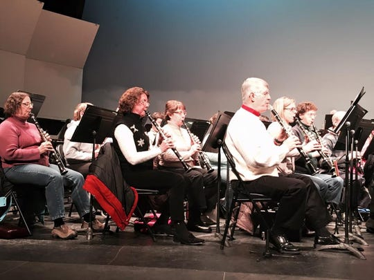 Members of the Lakeshore Wind Ensemble