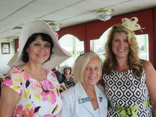 From left: Donna Simon, former assemblywoman; Somerset County Freeholder Pat Walsh, and Serena DiMaso.