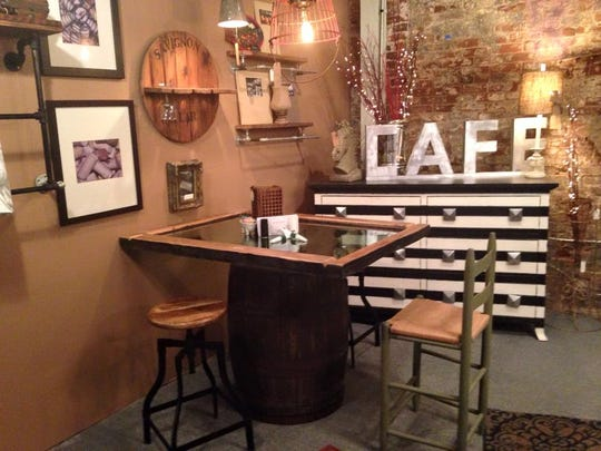 The Good News Room CoffeeHouse in Boone features reclaimed furniture.