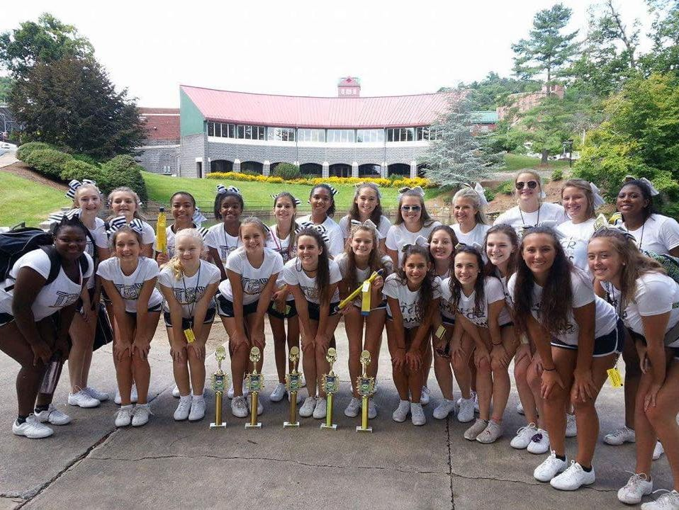 Roberson cheerleaders attended a camp at Appalachian State from July 30 to Aug. 1.