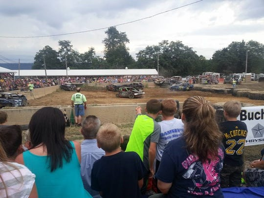 The demolition derby is always a favorite at the fair.