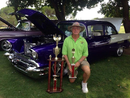 Pat Klohr poses in front of the car he entered the Donate Life Car Show and Health Expo in 2015. He won the people's choice  award and first place for best of show. The car show raises awareness about the need for organ donors.