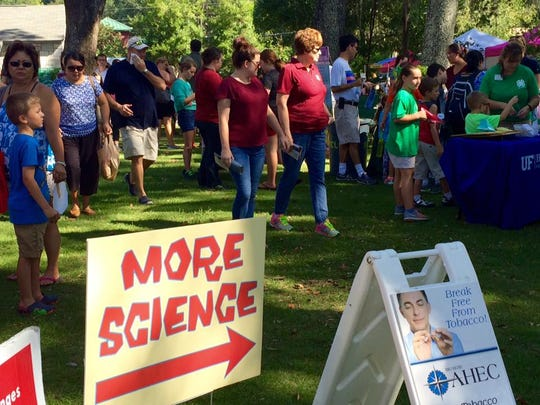 The crowd was thick with STEM enthusiasts at Saturday's