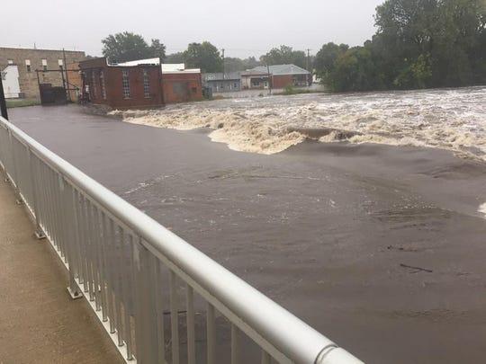 Flooding in Greene, Iowa, has forced evacuations on