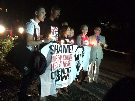 Candles for Clemency vigil in Mount Kisco