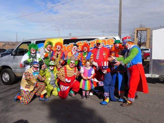 A group of clowns from the El Riad Shrine Clown Unit.