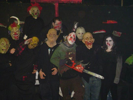 Some baddies at the Fear Factory in Mt. Clemens.