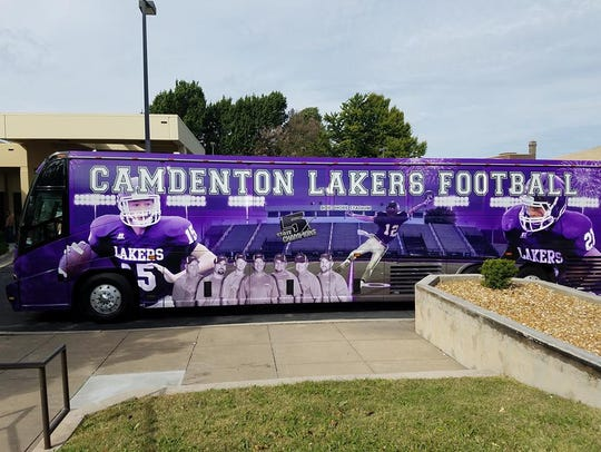 Camdenton's football team travels to games in a privately