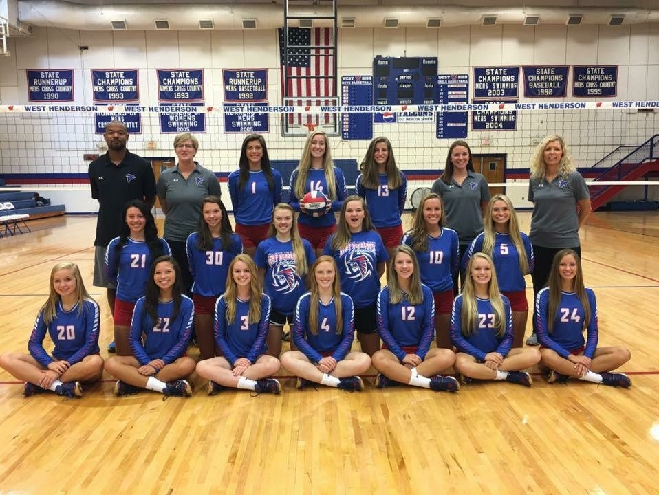 West Henderson's volleyball team.