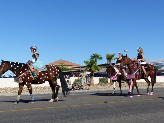 Some of the participants in the 2015 London Bridge Days Parade in Lake Havasu City were of the four-legged variety.