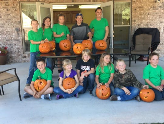 Pumpkins carved by Capitan 4-H will be on display for