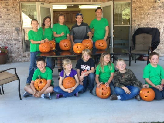 Pumpkins carved by Capitan 4-H will be on display for trick or treaters Halloween.
