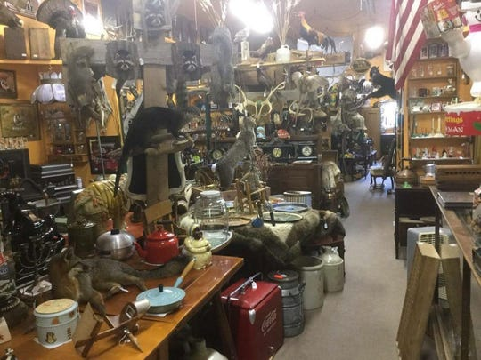Over the Hill Antiques and Collectibles is located at W4190 County Road J, Irma