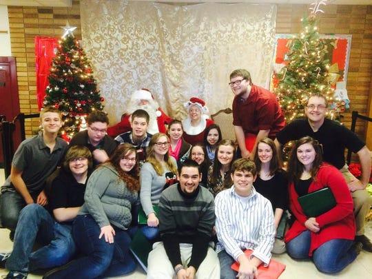 Christmas carol choir at the 2015 Holiday Shoppe.
