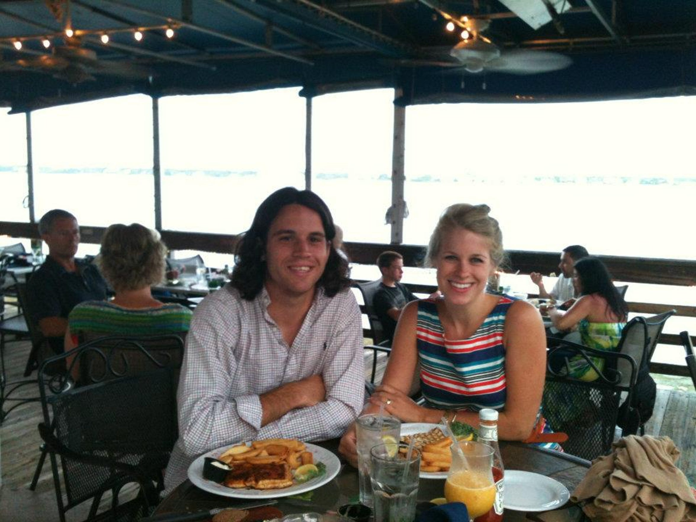 Katie and Josh Butler in Florida after they were married.