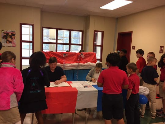 J.I. Barron Senior Elementary students participate in Rapides Schools' mock election.