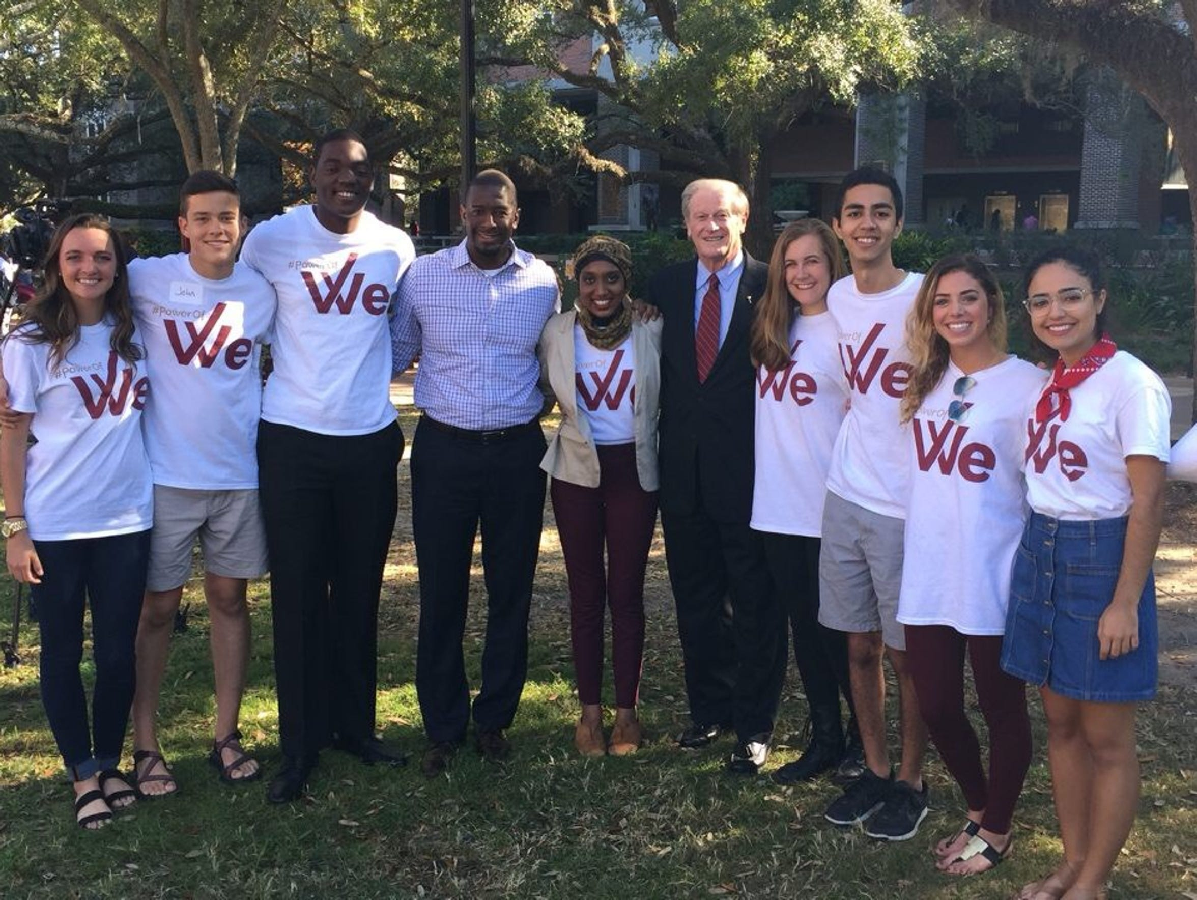 President Thrasher poses for a picture with Tallahassee