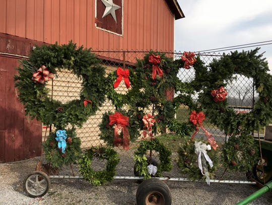 Wreaths are also on sale at Everitt Farms.