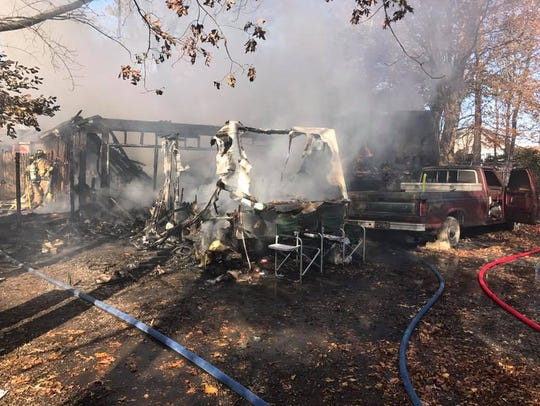 A fire in Longneck on Wednesday Nov. 23 destroyed an