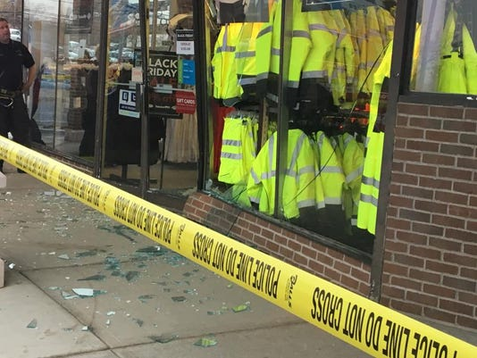 Clifton storefront crash