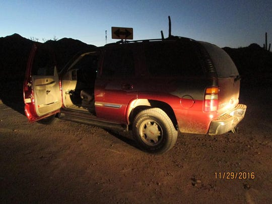 A truck containing more than 450 pounds of marijuana was pulled over on Highway 347 by a Pinal County sheriff's deputy.