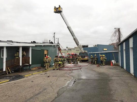 Multiple fire crews battled a structure fire Saturday