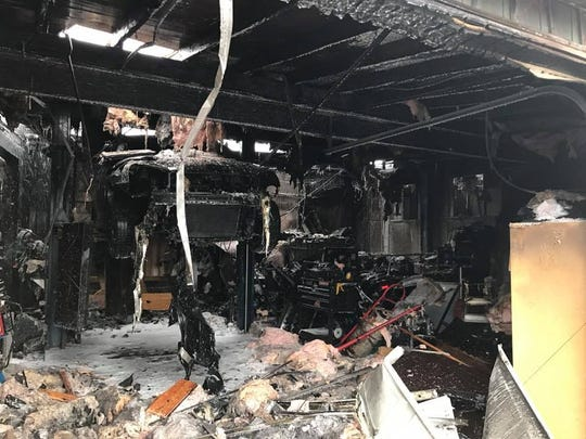 The interior of Hiram Auto Repair on John Street is