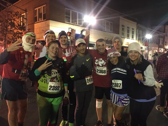 Members of the Raritan Valley Road Runners Club that ran three races Saturday, finished up their race day with the first annual Great Santa Chase in Bound Brook.