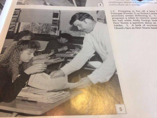 Bill Storm, former Merrill High School teacher, in the '89 yearbook.