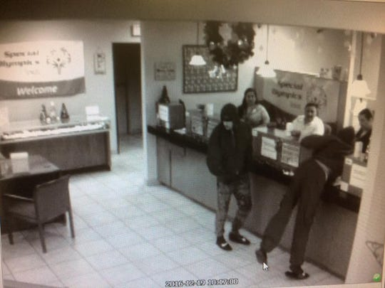 Corpus Christi police are looking for two men who robbed a bank at the corner of Staples Street and Weber Road on Monday, Dec. 19, 2016.