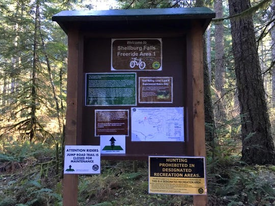 The Cascadia Trail Crew is restoring a collection of trails at the Shellburg Falls Recreation Area.