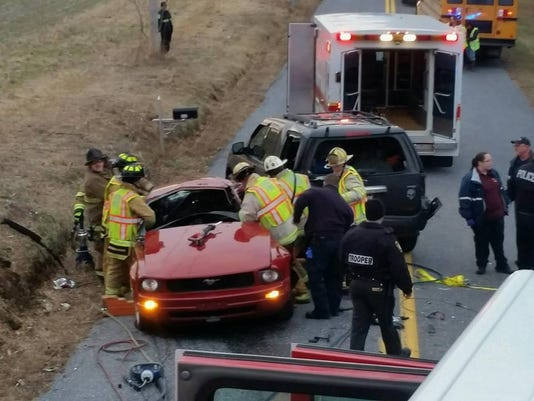 Shrewsbury crash with school bus