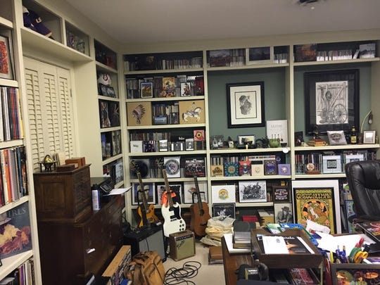 Inside Scott Auer's man cave.