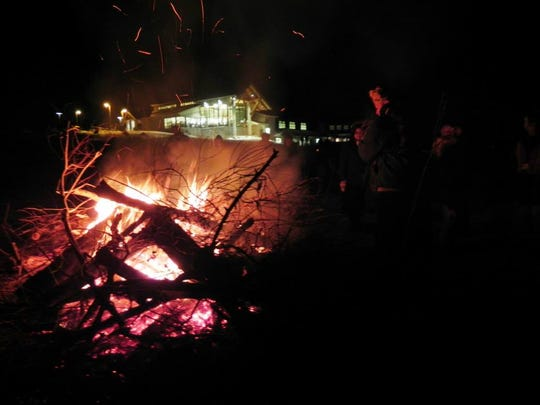 The Seventh Annual Horicon Marsh Candlelight Hike on