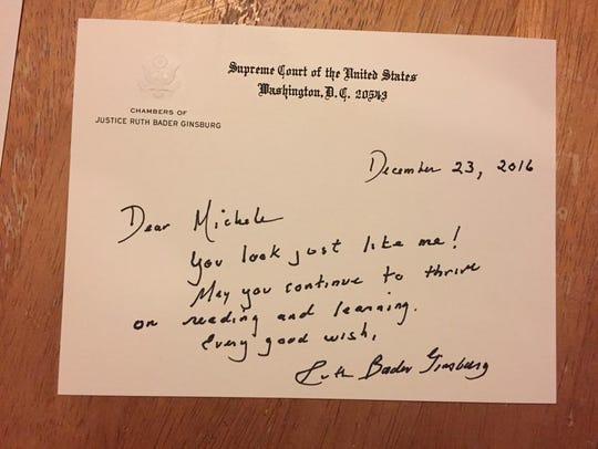 U.S. Supreme Court Justice Ruth Bader Ginsburg's letter