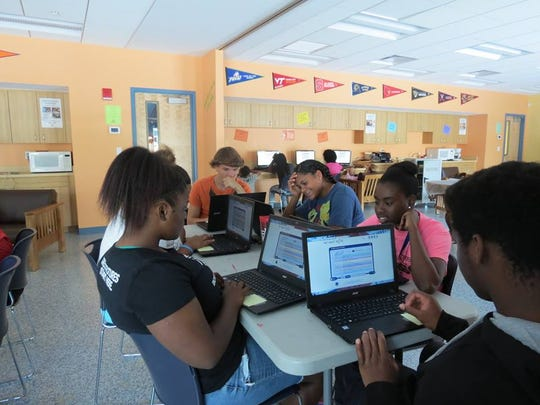 Teen members of the Boys & Girls Clubs of Indian River County spend time researching careers and assessing their skills during the Destinations program.