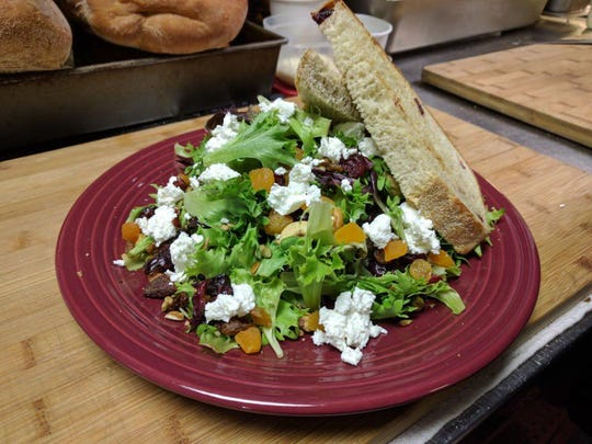Fresh salads are always on the menu at The Original Blue Marble Deli in Seneca.