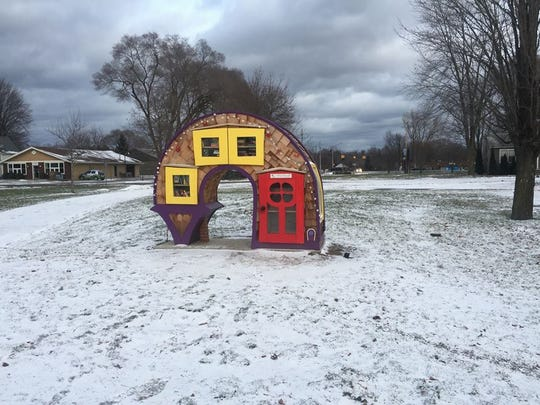 The Free Little Library in South Lyon's McHattie Park.