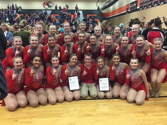 The DCE Dance Team earned first place in the Division